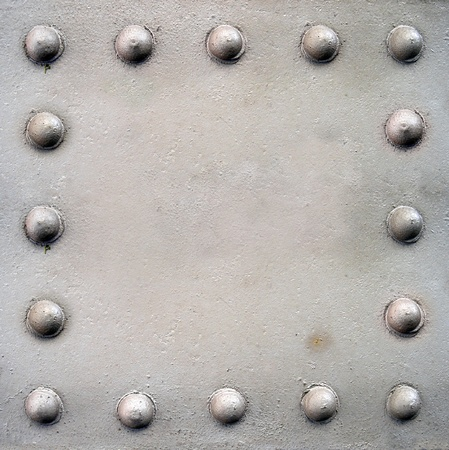 Steel plate with rivets photo