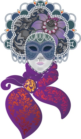 masque: Women s carnival mask in the form of Russian headdress