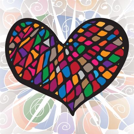 precious heart of gems and enamel Illustration