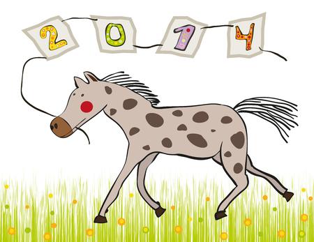 symbol of the Chinese zodiac running horse