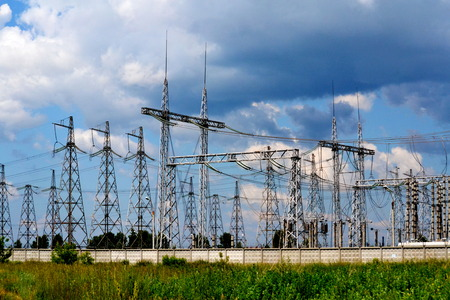 electric current: High-tension full tilts serves the electric current of the person for undertaking