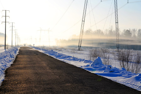 Roads Altaya cross edge in different directions 免版税图像