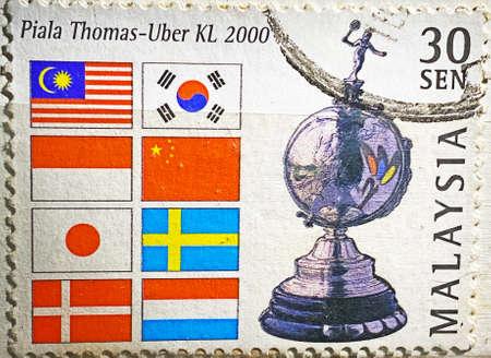 MYGIG123RF - Thomas-Uber Cup KL 2000. Malaysia stamp.
