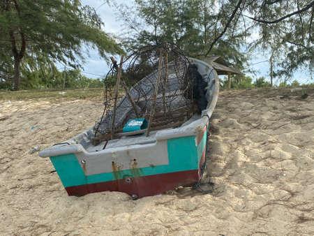 MYGIG123RF - Boat on the sandy beach. Benting Lintang, Tembila, Besut.