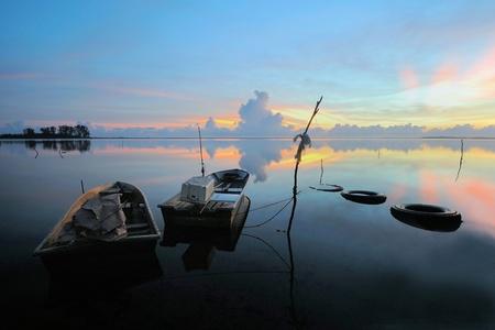 kelantan: sunrise at kelantan fishing village