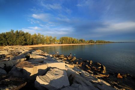 kelantan: tok bali beach,kelantan Stock Photo