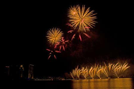 festival moments: putrajaya firework festival Stock Photo