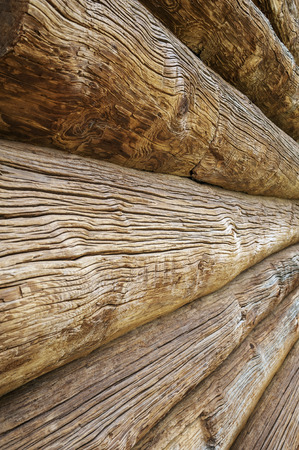 beautiful old wooden log house wall texture architectural background photo