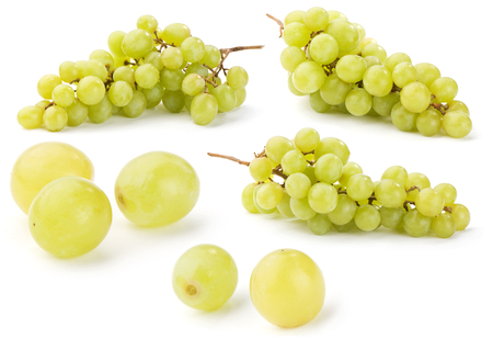 green grape, set of few images on white background Stock Photo