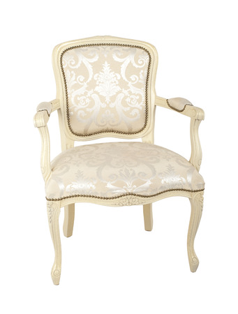 antique chair: luxury armchair isolated on white background
