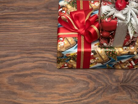 Christmas gifts are beautifully packed and waiting for their lucky owners.