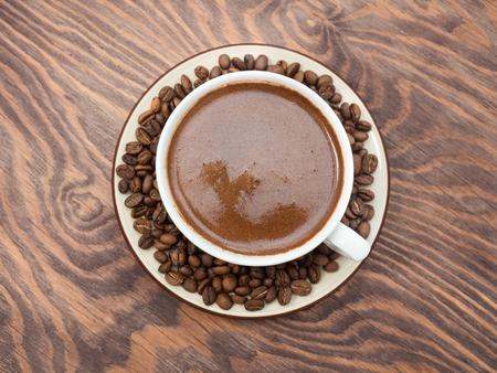 Coffee on the table. 版權商用圖片