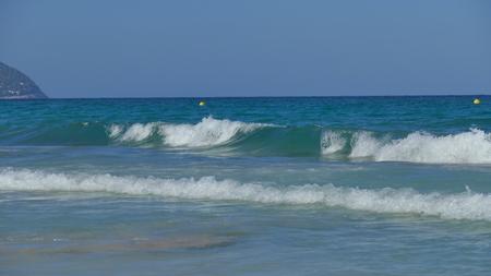 Big waves at sea Stock Photo