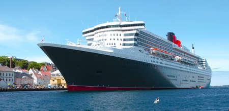 ocean liner: big cruise ship Stock Photo
