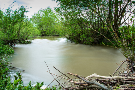 During floods in the Carpathians the rivers can leave the coast and spill over long distances.