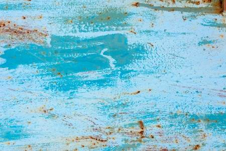 The blue metallic texture is covered with rust 2019