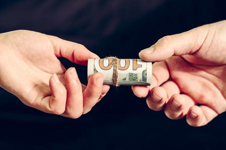 Transfer of money in dollar bills, receiving a bribe. 2019
