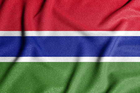National flag of the Gambia. The main symbol of an independent country. An attribute of the large size of a democratic state.