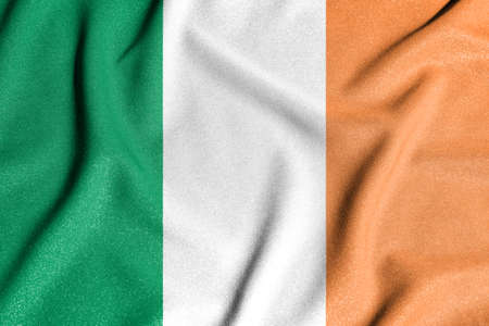 National flag of the Ireland. The main symbol of an independent country. An attribute of the large size of a democratic state. 写真素材