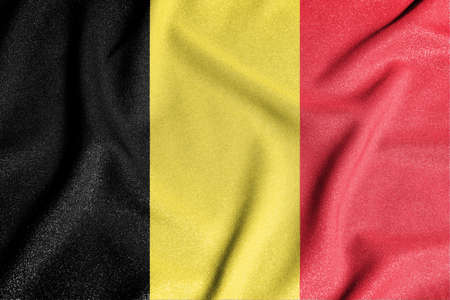 National flag of the Belgium. The main symbol of an independent country. An attribute of the large size of a democratic state.