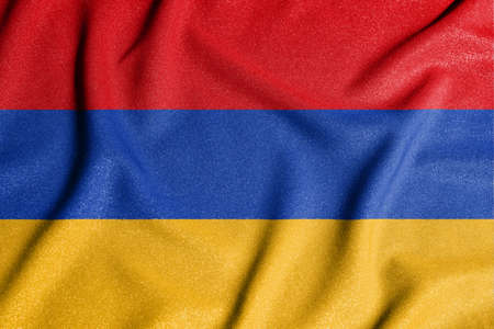 National flag of the Armenia. The main symbol of an independent country. An attribute of the large size of a democratic state.