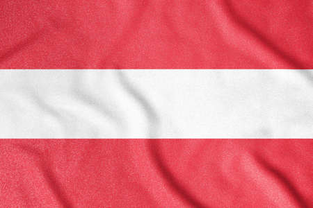 National flag of the Austria. The main symbol of an independent country. An attribute of the large size of a democratic state.