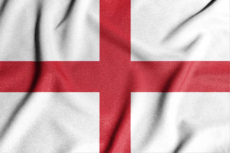 National flag of the England. The main symbol of an independent country. An attribute of the large size of a democratic state. Stock fotó