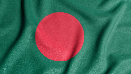 National flag of the Bangladesh. The main symbol of an independent country. Flag of Bangladesh. 2021