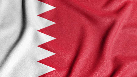 National flag of the bahrain. The main symbol of an independent country. Flag of bahrain. 2021