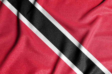 National flag of the Trinidad and Tobago. The main symbol of an independent country. Flag of Trinidad and Tobago. An attribute of the large size of a democratic state.