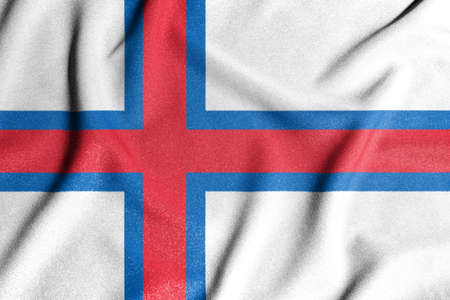 National flag of the Faroe Islands. The main symbol of an independent country. Flag of Faroe Islands. An attribute of the large size of a democratic state.