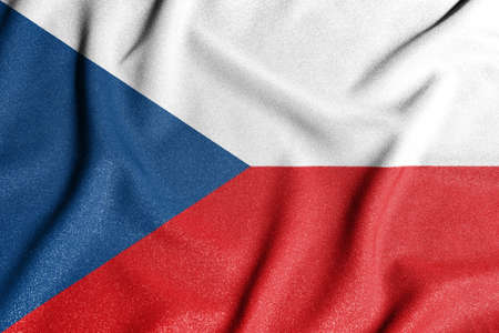 National flag of the czechia. The main symbol of an independent country. Flag of czechia. An attribute of the large size of a democratic state.