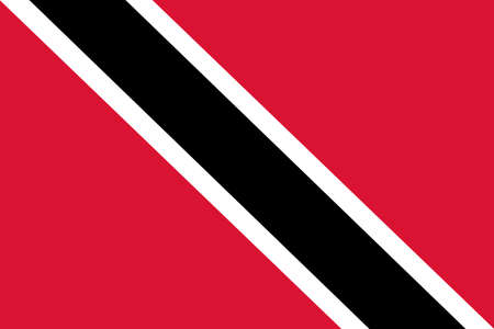 National flag of the Trinidad and Tobago. The main symbol of an independent country. An attribute of the large size of a democratic state illustration. 2021
