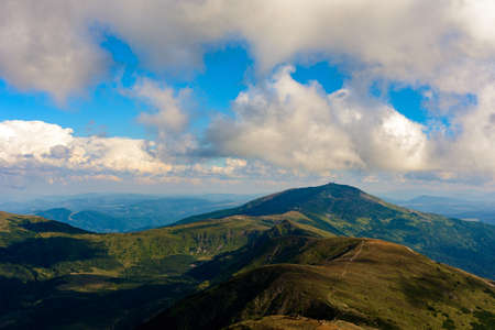Landscapes of the Montenegrin ridge, summer landscapes of the Carpathian mountains, epic photos of the Ukrainian Carpathians. 2020 Archivio Fotografico