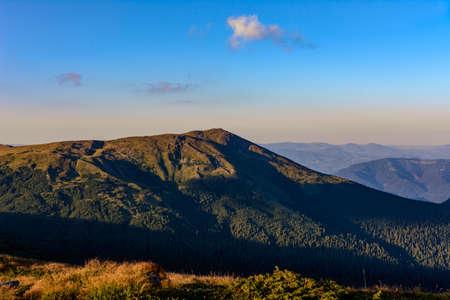 Tourist hiking trails of the Carpathians, Ukrainian tourist Montenegrin ridge, trails of the Ukrainian Carpathians. 2020