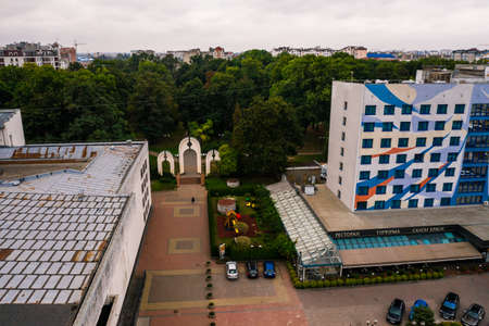 Ivano-Frankivsk, Ukraine September 26, 2020: Independence Avenue, the city and its streets. 2020