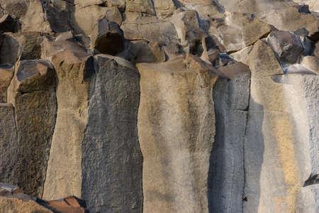 Natural basalt stone, basalt pillars in nature.new
