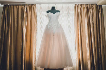 The bride's wedding dress, the wedding morning, the best moments in the life of every girl. 2020