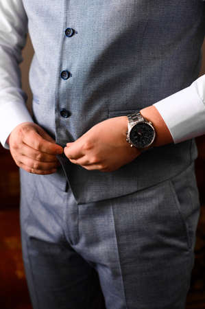 Groom's morning, details and husband's meeting on the wedding day. 2020