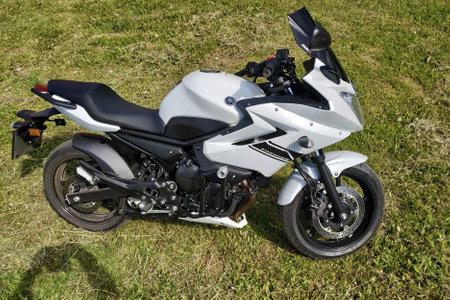 Kaluga, Russia May 28, 2019: Yamaha motorcycle, close-up details.new
