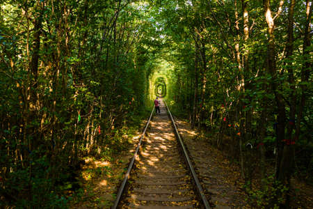 Tourist place of Ukraine love tunnel, tourism in Ukraine, tourist points in Rivne. new
