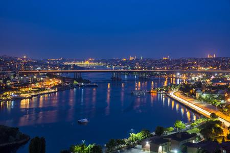 Istanbul by night 写真素材