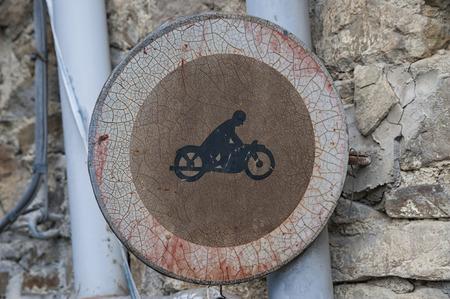 roadsign: Old roadsign