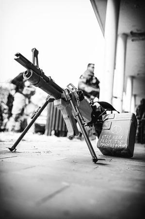 machine-gun: Softair machinegun