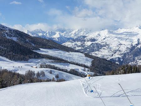 pila: Ski tracks Stock Photo