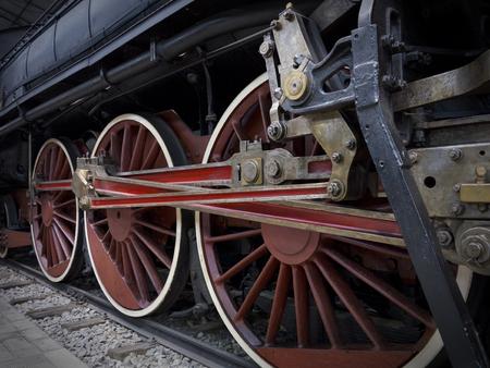 parte: Vecchia locomotiva Stock Photo