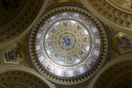saint stephen cathedral: Budapest Saint Stephen church indoor Editorial