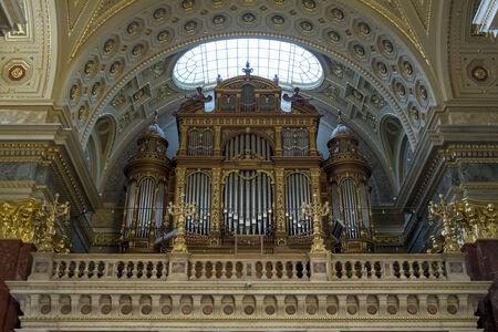 Organ in Saint Stephen church in Budapest