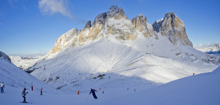 Skiing in the dolomites photo