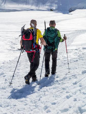 Trekking in the alps photo